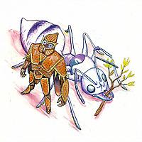 Ilustração promocional do projeto de quadrinhos Mr. Páprica.