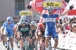 October 9, 2018 - Konya, Turkey - Argentina's Maximiliano Ariel Richeze from Quick - Steps Floors Team, wins the opening stage - the Turkish Airlines 148.4km Konya - Konya, of the 54th Presidential Cycling Tour of Turkey 2018  (Credit Image: © Artur Widak/NurPhoto via ZUMA Press)