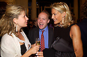 Lady Forte, Andrew Roberts and Leonie Frieda, Flora Fraser launch party for her book ' Princesses the Daughters of George 111' the Savile club, Brook St. 14 September 2004. SUPPLIED FOR ONE-TIME USE ONLY-DO NOT ARCHIVE. © Copyright Photograph by Dafydd Jones 66 Stockwell Park Rd. London SW9 0DA Tel 020 7733 0108 www.dafjones.com