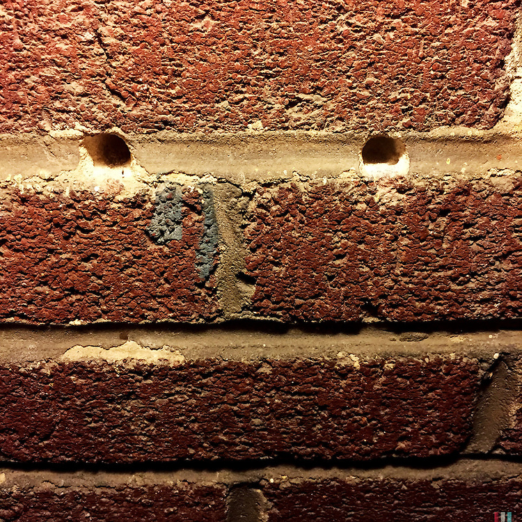 Baltimore, Maryland - January 15, 2015: A face in a brick wall.<br /> <br /> CREDIT: Matt Roth