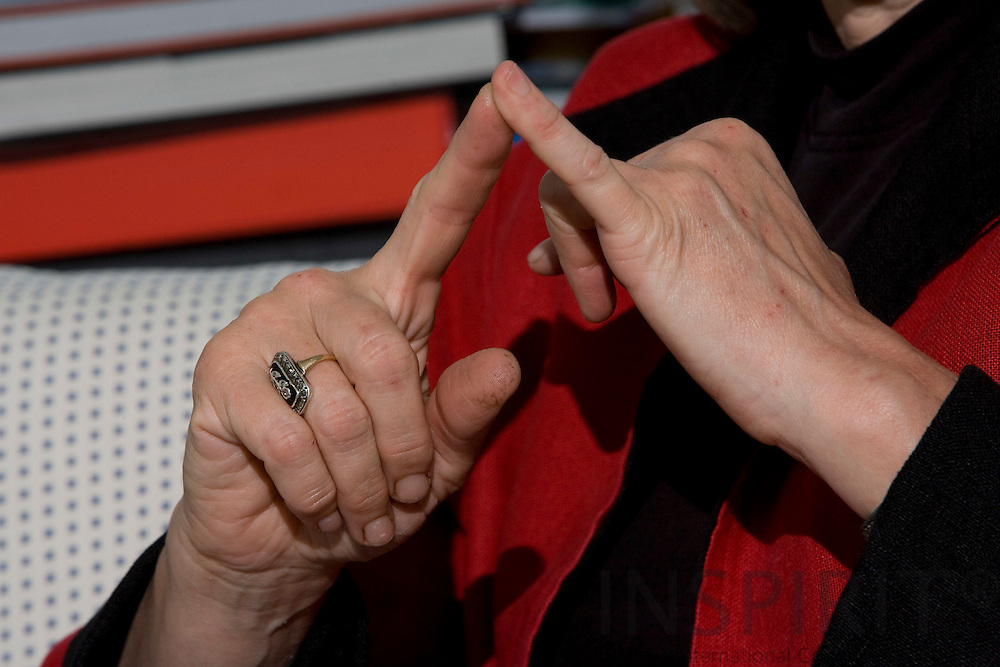 BRUSSELS - BELGIUM - 05 MAY 2008 -- The hands of French MEP Pervenche BERÈS (Beres). Photo: Erik Luntang