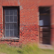 Decaying Brick Building - Bodie, CA - Lensbaby