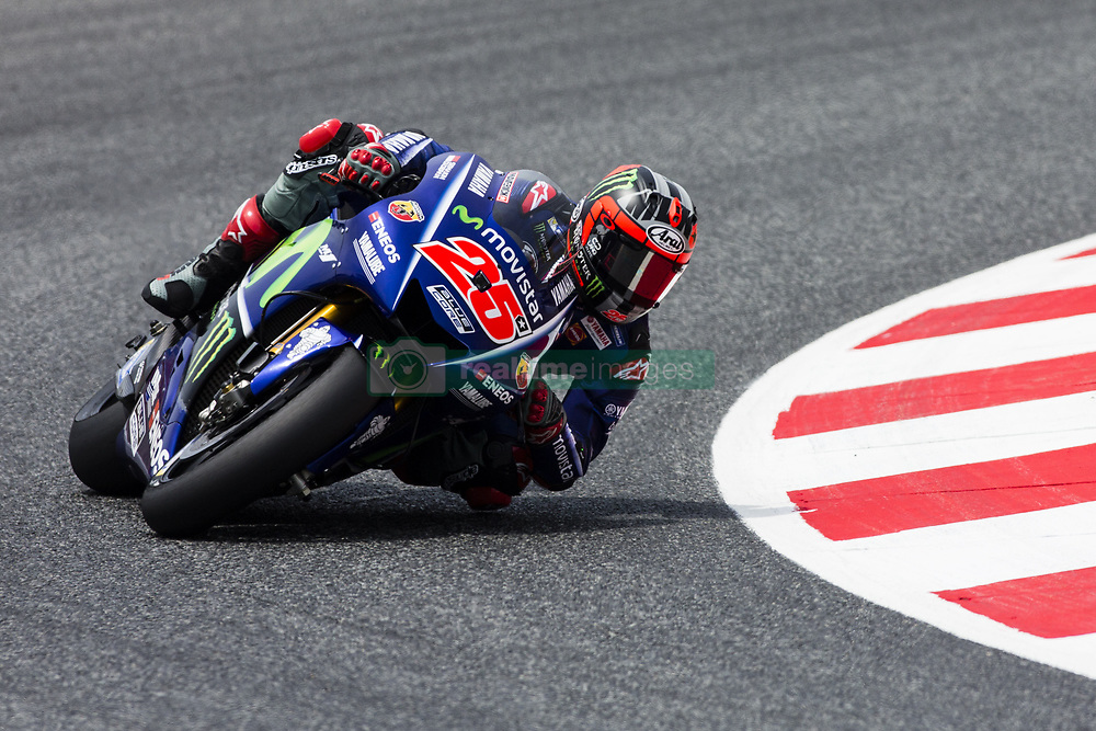 June 9, 2017 - Barcelona, Catalonia, Spain - 25 Maverick Vinales from Spain of Movistar Yamaha MotoGP (Yamaha) during the Monter Energy Catalonia Grand Prix, at the Circuit de Barcelona-Catalunya on June 9 of 2017. (Credit Image: © Xavier Bonilla/NurPhoto via ZUMA Press)