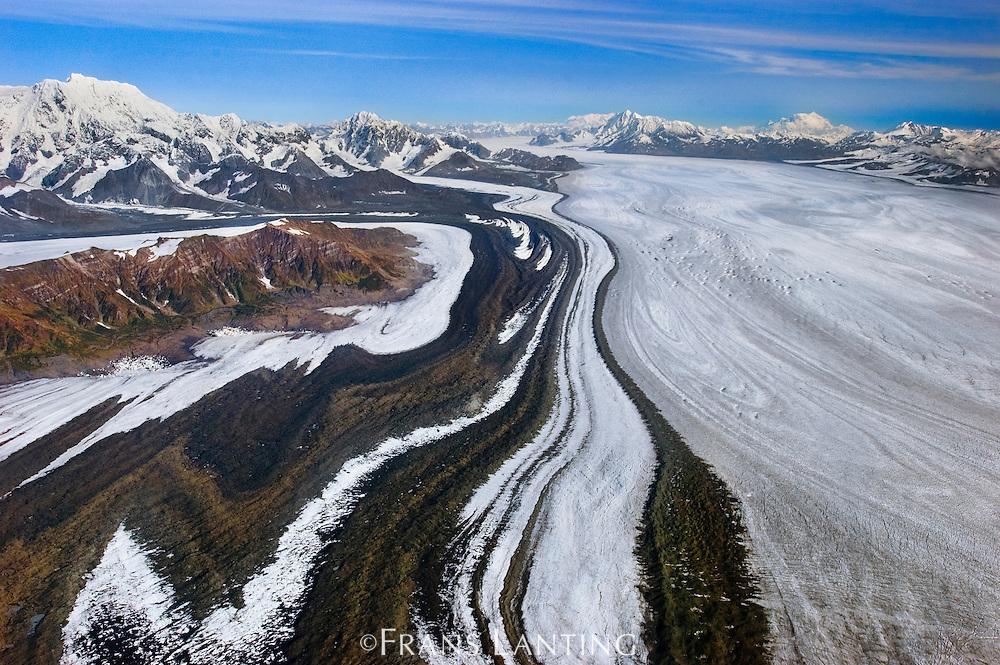 Glacier (aerial), Wrangell St. Elias National Park, Alaska