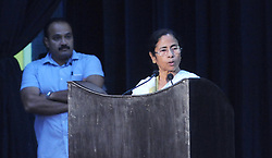 September 7, 2017 - Kolkata, West Bengal, India - West Bengal Chief Minister Mamata Banerjee along with other state ministers attended in a meeting of West Bengal Government Employees Federation meeting. (Credit Image: © Saikat Paul/Pacific Press via ZUMA Wire)