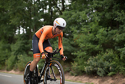 Amy Pieters (NED) of Team Netherlands tackles the first climb of Stage 4 of the Lotto Thuringen Ladies Tour - a 18.7 km individual time trial, starting and finishing in Schmolln on July 16, 2017, in Thuringen, Germany. (Photo by Balint Hamvas/Velofocus.com)