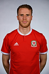 NANNING, CHINA - Saturday, March 24, 2018: Wales' Marley Watkins during a squad photo shoot at the Wanda Realm Hotel on day five of the 2018 Gree China Cup International Football Championship. (Pic by David Rawcliffe/Propaganda)