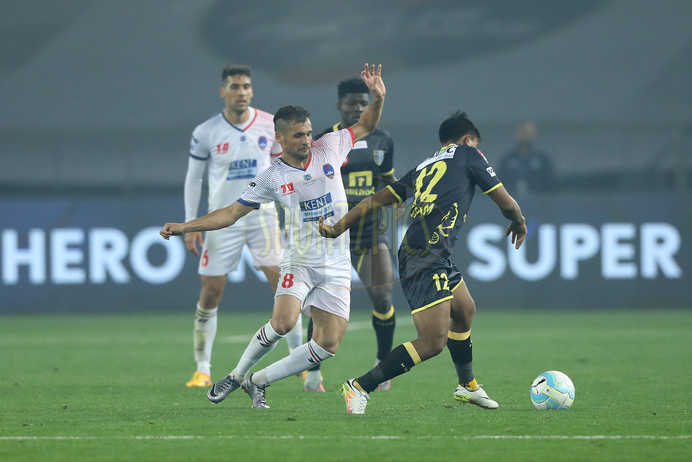 Paulinho Dias of Delhi Dynamos FC  in action  during match 43 of the Hero Indian Super League between Delhi Dynamos FC and Kerala Blasters FC  held at the Jawaharlal Nehru Stadium, Delhi, India on the 10th January 2018<br /> <br /> Photo by: Arjun Singh  / ISL / SPORTZPICS