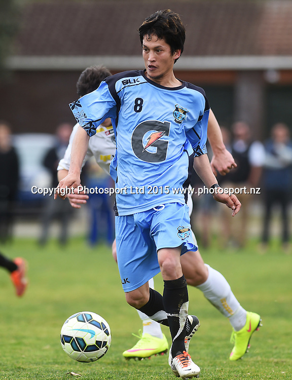 Mangere's Daewoo Kim. Chatham Cup Semi Final Football. Eastern Suburbs AFC v Mangere Utd. Saturday 29 August 2015. Copyright photo: Andrew Cornaga/www.photosport.nz