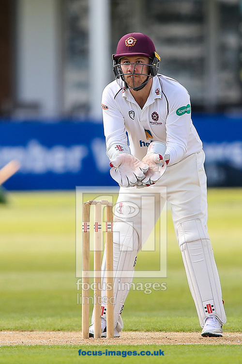 Adam Rossington of Northamptonshire CCC during day two of the Friendly match at the County Ground, Northampton<br /> Picture by Andy Kearns/Focus Images Ltd 0781 864 4264<br /> 03/04/2017
