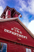 Historic firehouse, Ridgway, Colorado USA