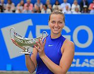 PETRA KVITOVA (CZE) mit Pokal, Siegerehrung, Aegon Classic Birmingham 2017<br /> <br /> Tennis - Aegon Classic Birmingham 2017 - WTA -  The Edgbaston Priory Club - Birmingham -  - Great Britain  - 25 June 2017. <br /> &copy; Juergen Hasenkopf