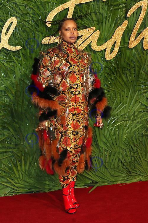 Erykah Badu, The Fashion Awards 2017, The Royal Albert Hall, London UK, 04 December 2017, Photo by Richard Goldschmidt