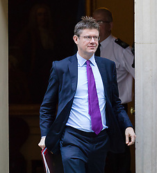 © Licensed to London News Pictures. 09/10/2018. London, UK.  Greg Clark,<br /> Secretary of State for Business, Energy and Industrial Strategy leaving Downing Street after a cabinet meeting.  Photo credit: Vickie Flores/LNP