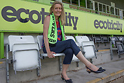 Helen Taylor is announced as the new CEO for Forest Green Rovers  at the New Lawn, Forest Green, United Kingdom on 20 June 2017. Photo by Shane Healey.