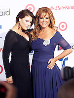 (CH) fl-el-billboard-latin-music-awards-CH13 --Olga Tanon, left, and Maria Celeste Arraras arrive at the Billboard Latin Music Awards 2012 at Bank United Center on April 26, 2012 in Miami, Florida Staff photo/Cristobal Herrera
