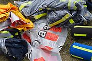 Nederland, the Netherlands, Erichem, 28-7-2017In de dorp is een mega varkensstal uitgrbrand waarbij 20.000 dieren omgekomen zijn. De varkens zaten verdeeld over twee verdiepingen en 4 stallen. Poolse arbeiders zorgden voor de dagelijkse gang van zaken. Er is asbest vrijgekomen omdat op de daken nog eterniet, asbest, asbest dakbedekking lag. De eigenaar van deze megastal had in Duitsland een beroepsverbod als varkenshouder vanwege dierenmishandeling.Foto: Flip Franssen