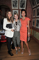 Left to right, HOLLY VALANCE, CAROLINE HABIB and GOGA ASHKENAZI at a lunch hosted by Roger Viver in honour of Bruno Frisoni their creative director, held at Harry's Bar, 26 South Audley Street, London on 31st March 2011.