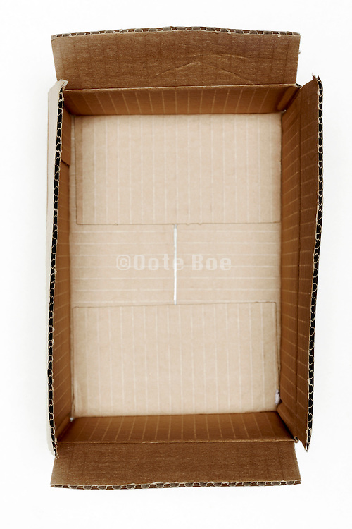 still life of an opened carton box