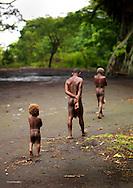 Vanuatu, Tafea Province, Tanna Island, three generations