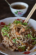 Fried noddle with prawns, served in a little street restaurant near Maungmagan village, Dawei, Burma.<br />