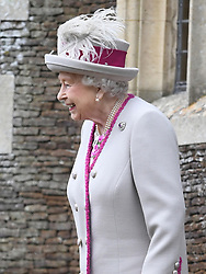 Queen Elizabeth II arriving to attend the Christmas Day morning church service at St Mary Magdalene Church in Sandringham, Norfolk.