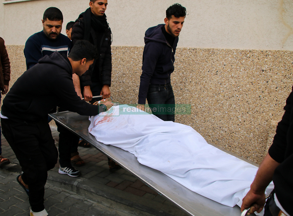 March 30, 2019 - Palestinian Mohammed Jihad Saad, 20, dies in the Shifa Hospital in Gaza City, succumbing to the wounds he had sustained during the previous night protest on the east of Gaza City. Muhammad Jihad Saad, who is from the Shujayia neighbourhood in central Gaza, was injured in the head with bullet shrapnel during the ''Night Confusion'' Unit protest on Friday night in the Malika area on the east of Gaza City.  At least eleven other Palestinians were injured in the night protest. For same weeks some Palestinian protesters have been holding night protests, during which they set tires on fire and chant slogans through loud speakers. Mohammad Jihad Saad's tragic death occurs on Palestinian Land's Day anniversary and on the first anniversary of the Great March of Return protests in Gaza (Credit Image: © Ahmad Hasaballah/IMAGESLIVE via ZUMA Wire)