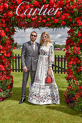 Veronika Heilbrunner and Justin O'Sheais at the Cartier Queen's Cup Polo 2019 held at Guards Polo Club, Windsor, Berkshire. UK 16 June 2019. <br /> <br /> Photo by Dominic O'Neill/Desmond O'Neill Features Ltd.  +44(0)7092 235465  www.donfeatures.com