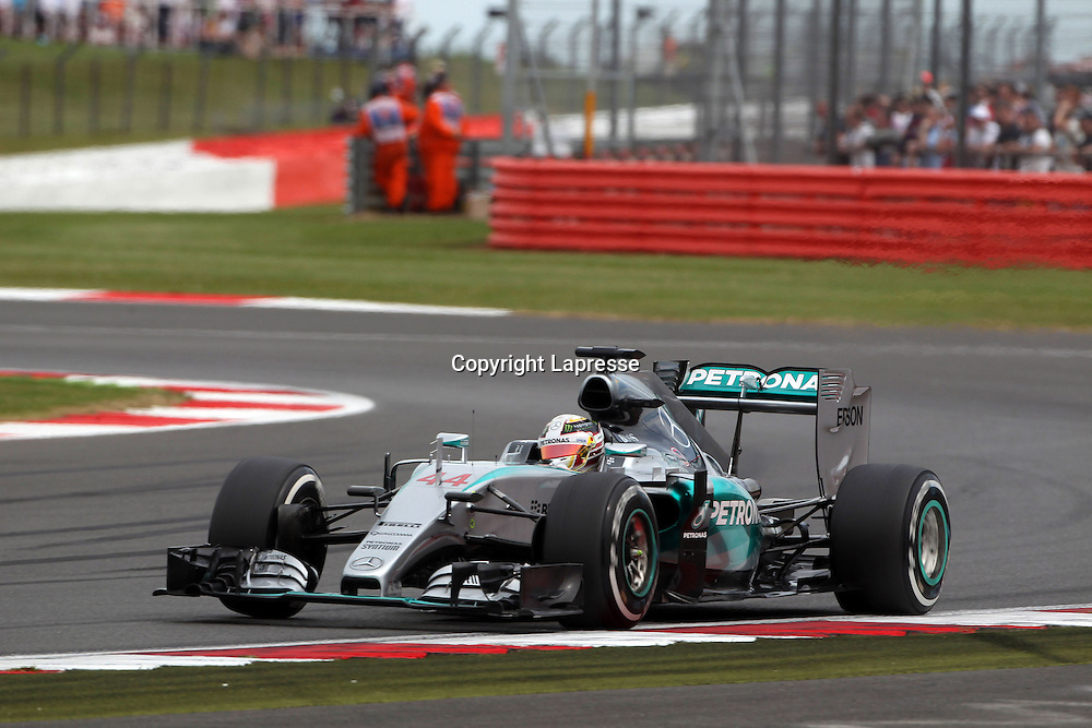 &copy; Photo4 / LaPresse<br /> 03/07/2015 Silverstone, England<br /> Sport <br /> Grand Prix Formula One England 2015<br /> In the pic: Lewis Hamilton (GBR) Mercedes AMG F1 W06