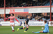Greg Stewart scores  Dundee's second goal - Dundee v Hamilton, SPFL Premiership at Dens Park<br /> <br />  - &copy; David Young - www.davidyoungphoto.co.uk - email: davidyoungphoto@gmail.com