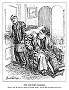 """The Doctor's Dilemma. """"Sorry I can't do more - I'm feeling a bit shaky myself. I've just had an accident with a bear."""" (Hitler as a bedraggled doctor cannot help an ailing Mussolini because of his troubles on the Eastern Front)"""