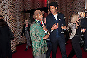 BENJAMIN BOATENG; CHARLIE CASELY-HAYFORD , Dinner and party  to celebrate the launch of the new Cavalli Store at the Battersea Power station. London. 17 September 2011. <br /> <br />  , -DO NOT ARCHIVE-© Copyright Photograph by Dafydd Jones. 248 Clapham Rd. London SW9 0PZ. Tel 0207 820 0771. www.dafjones.com.