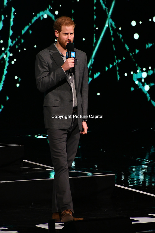 Prince Harry at the WE Day UK at Wembley Arena, London, Uk 6 March 2019.