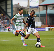 Dundee's Phil Roberts fires in a shot which hit the post - Dundee v Celtic SPFL Premiership at Dens Park<br /> <br />  - &copy; David Young - www.davidyoungphoto.co.uk - email: davidyoungphoto@gmail.com