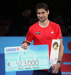 25.10.2015, Stadthalle, Wien, AUT, ATP Tour, Erste Bank Open, Finale, im Bild David Ferrer (ESP) // David Ferrer of Spain during the final match of Erste Bank Open of ATP Tour at the Stadthalle in Wien, Austria on 2015/10/25. EXPA Pictures © 2015, PhotoCredit: EXPA/ Thomas Haumer