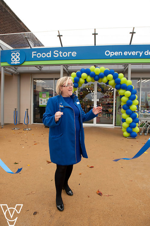 Pictured is Lincolnshire Co-operaive president Amy Morley at the opening of the refurbished Washingborough precinct, including the Lincolnshire Co-operative food store<br /> <br /> Official re-opening of the refurbished Washingborough Food Store and precinct, which includes the Co-op Pharmacy.<br /> <br /> Date: October 30, 2015<br /> Picture: Chris Vaughan/Chris Vaughan Photography