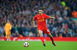 LIVERPOOL, ENGLAND - Saturday, January 7, 2017: Liverpool's Trent Alexander-Arnold in action against Plymouth Argyle during the FA Cup 3rd Round match at Anfield. (Pic by David Rawcliffe/Propaganda)