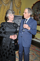 The HON.SIMON ECCLES and POLLY, MARCHIONESS OF LANSDOWNE at Ambassador Earle Mack's 60's reunion party held at The Ritz Hotel, London on 18th June 2012.