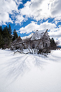 Collapsed abandoned farmhouse, Union County, Oregon.