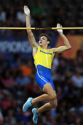 Armand Duplantis competes and wins gold medal in men pole vault during the European Championships 2018, at Olympic Stadium in Berlin, Germany, Day 6, on August 12, 2018 - Photo Philippe Millereau / KMSP / ProSportsImages / DPPI