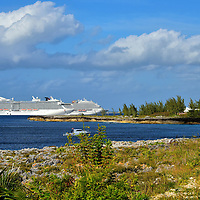 Two Anchored Cruise Ships in Savannah, Grand Cayman<br />