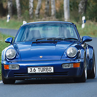 Porsche 964 Turbo 3.6 (1993) photographed in Telgte, Germany, 2014
