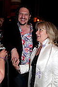 JAY RAYNER; BARONESS HELENA KENNEDY;, Massimo's restaurant at the Corinthia Hotel, Whitehall  host the after party  for 'Claire Rayner's benefit show' 5 June 2011. <br /> <br />  , -DO NOT ARCHIVE-© Copyright Photograph by Dafydd Jones. 248 Clapham Rd. London SW9 0PZ. Tel 0207 820 0771. www.dafjones.com.