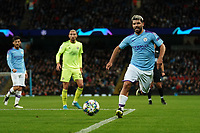 Manchester City's Sergio Aguero threatens at goal<br /> <br /> Football - 2019 / 2020 UEFA Champions League - Champs Lge Grp C: Man City-D Zagreb<br /> <br /> , at Etihad Stadium<br /> <br /> Colorsport / Terry Donnelly