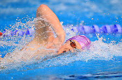 Timothy Shuttleworth competes in the Men's Open 1500m Freestyle during day three of the 2017 British Swimming Championships at Ponds Forge, Sheffield.