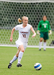 Virginia Cavaliers D/M Becky Sauerbrunn (11)..The Virginia Cavaliers fell 2-1 the University of Connecticut Huskies in a pre-season exhibition match at Klockner Stadium in Charlottesville, VA on August 26, 2007.