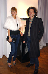 STEPHEN & ASSIA WEBSTER, he is the jeweller at a party to celebrate the centenary of Montblanc held at Lindley Hall, Elverton Street, London SW1 on 9th March 2006.<br />