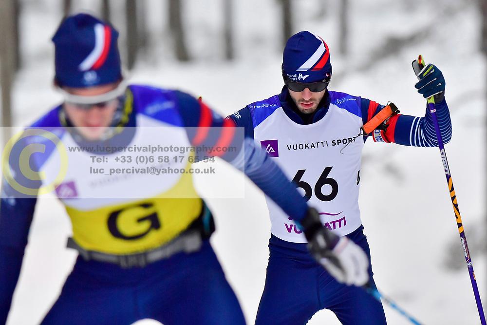 CHALENCON Anthony Guide: VALVERDE Simon, FRA, B1 at the 2018 ParaNordic World Cup Vuokatti in Finland
