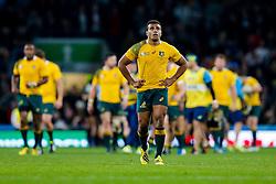 Australia Scrum-Half Will Genia looks dejected - Mandatory byline: Rogan Thomson/JMP - 07966 386802 - 31/10/2015 - RUGBY UNION - Twickenham Stadium - London, England - New Zealand v Australia - Rugby World Cup 2015 FINAL.