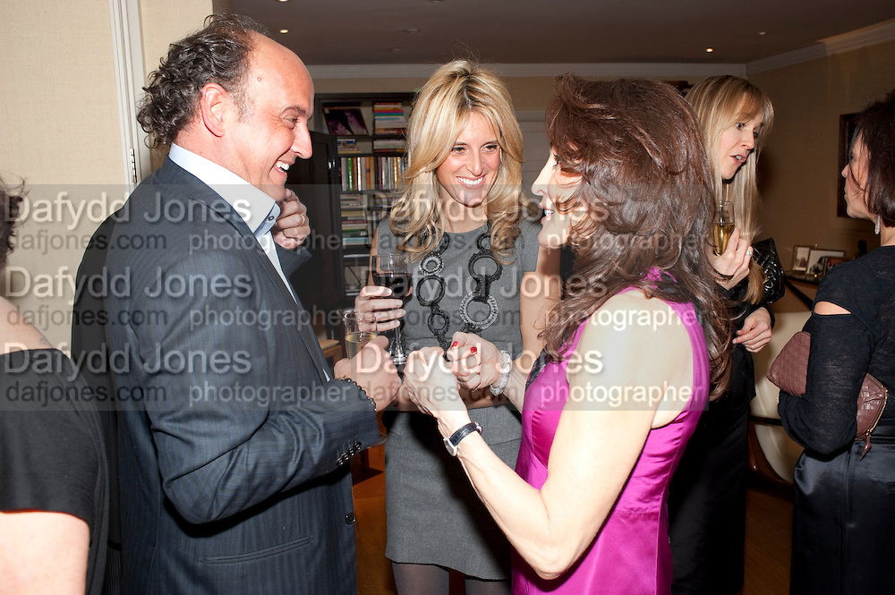 FRANK SCOLARO; ANNA SCOLARO; DENISE ESTFANDI;, Dinner hosted by Denise Estfandi, for the Council of the Serpentine Gallery to celebrate the opening of  Nancy Spero at the Serpentine Gallery. London.  Upper Brook house. 10a upper brook st.1 March 2011. -DO NOT ARCHIVE-© Copyright Photograph by Dafydd Jones. 248 Clapham Rd. London SW9 0PZ. Tel 0207 820 0771. www.dafjones.com.